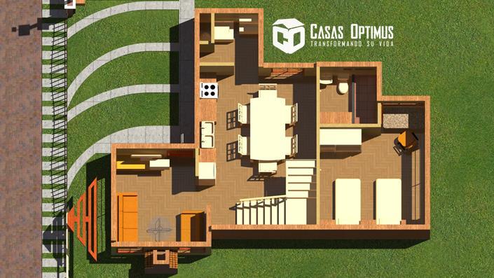 Interior primer nivel Casa Prime
