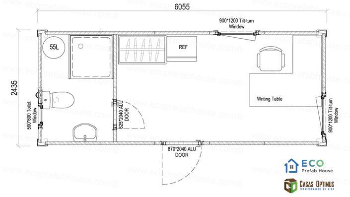 Oficina casas modulares moviles